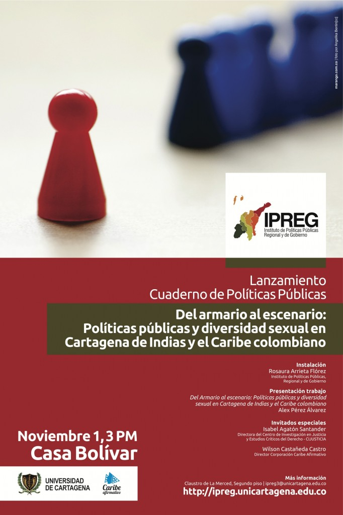 Lanzamiento de cuaderno de Políticas Públicas. Del armario al escenario.
