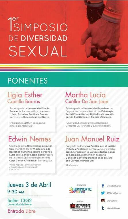 Simposio de Diversidad Sexual en la Universidad del Norte